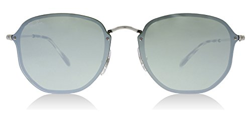 Ray-Ban-RB3579N-00330-Silver-Blaze-Round-Sunglasses-Lens-Category-3-Lens-Mirro