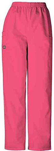 Scrubs - Cherokee Authentic Workwear 4200 Pull-On Cargo Scrub Pant (Carnation Pink, S) -