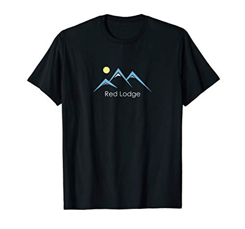 (Retro Snowy Mountain - Red Lodge MT T-Shirt)
