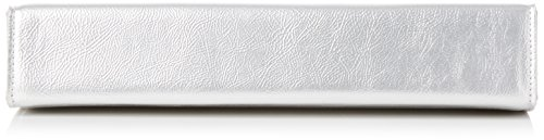 Dorothy Perkins Silver Bar Top Clutch - Pochette da giorno Donna, (Metallic), 27.5x14.5x5.5 cm (W x H L)