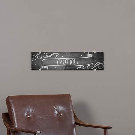 5-Pack Caution 24x6 Chalk Banner Premium Acrylic Sign CGSignLab