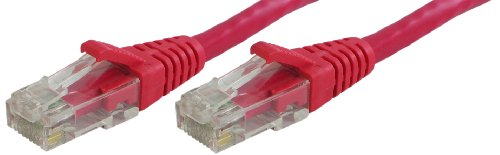 (Lynn Electronics OLG10ARDR-006 Optilink CAT5E 6-Feet Patch Cord, Red,)