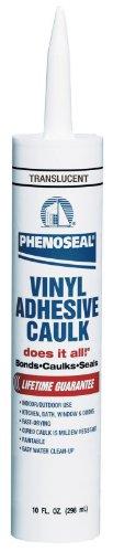 Dap 00006 12 Pack Translucent Phenoseal Does It All Vinyl Adhesive Caulk 10-Ounce
