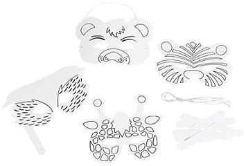 Masques Animaux à Décorer à Colorier Lot De 24