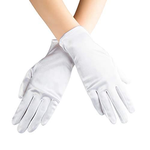 Xuhan Short Banquet Opera Satin Gloves for Women