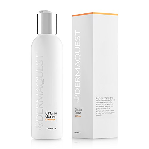 DermaQuest C Infusion Antioxidant Foaming Cleanser – Brightening and Energizing Face Wash, 6 fl. oz.