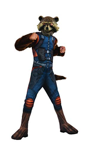 Rubie's Marvel Avengers: Endgame Child's Deluxe Rocket Raccoon Costume & Mask, Large -