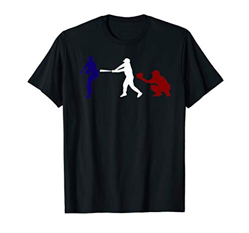 Baseball USA flag American Tradition Spirit T Shirt