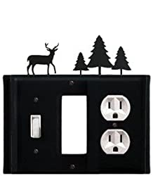 Egso-203 Deer & Pine Trees Gfi Switch Outlet Electric Cover