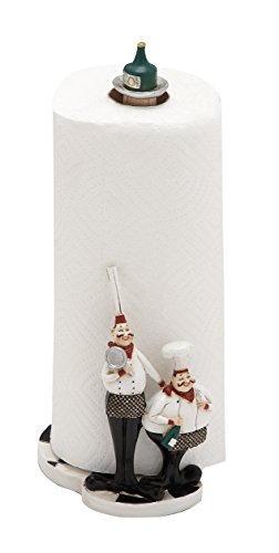 Deco 79 Poly-Stone Chef Paper Towel Holder, 6 by 13,