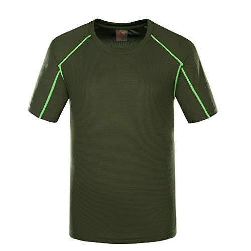 Controls Triad (FarJing Mens New Outdoor Quick-Drying Sports T-Shirt Summer Exercise Fitness Blouse Tops(XL,Army Green)