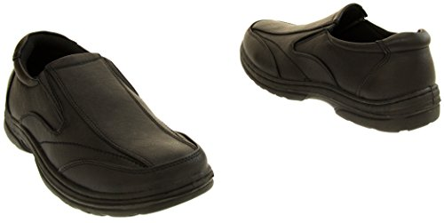 Leather Mens On Slip Faux Formal Classics Black Shoes ndUWExdq6