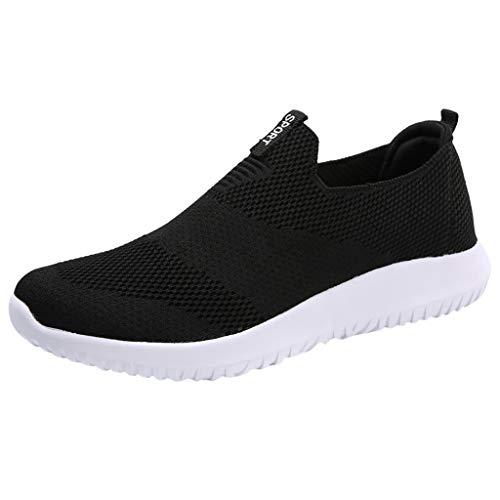 Effulow Womens Soft Bottom Mesh Breathable Shoes Summer Fashion Casual Sneaker Black