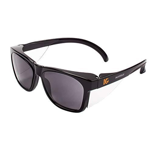 Kleenguard 49311 Maverick Safety Glasses, Black (Pack of 12) (Maverick Glass)