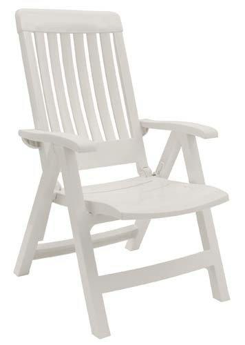 NEW Grosfillex Miami Chaise Fauteuil Piscine Confort côté intérieur-extérieur Chaises Blanc blanc 4-Position