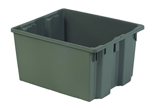 LEWISBins+ SN2420-13BQ Grey Stack and Nest Container, HDPE, 24