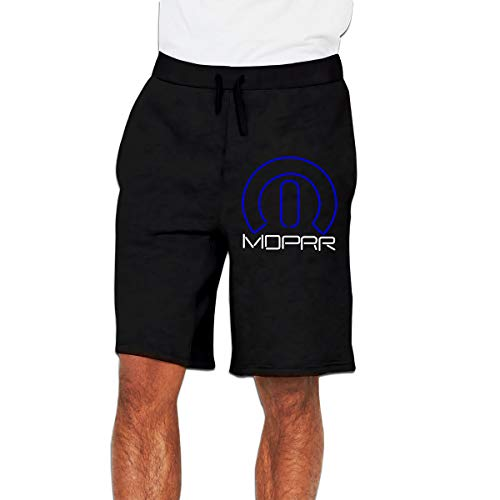 Mopar Short - Mopar Logo Mens' Casual Trouser Shorts Sweatpants with Pockets Black