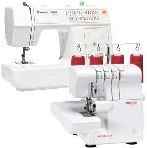 Juego de 2 - Husqvarna Viking máquina de coser y Singer Overlock ...