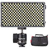 Aputure AL-F7 Portable LED Video Light Lamp Panel 3200K-9500K Color Temperature CRI95+ 256pcs LED Beads Adjustable Brightness with Cold Shoe Mount Carry Bag with Andoer Cleaning Cloth