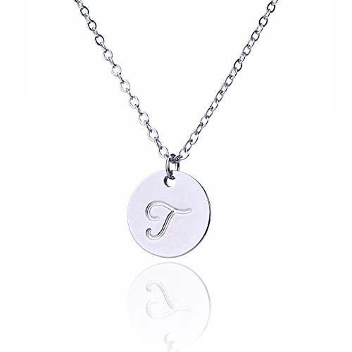 Font Charm (AOLO Font Disc Necklace Small Charm Necklace T)