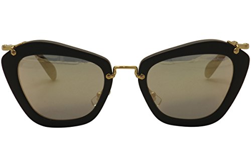 7fa283a6edb1 MIU MIU MU 10NS Women s Retro-Inspired Noir Sunglasses