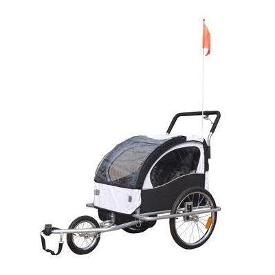 2 in 1 Jogger Fahrradanhänger Kinderwagen Kinderanhänger Fahrrad Anhänger D&S Vertriebs GmbH