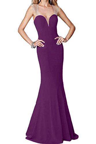 ivyd ressing Mujer favorita trager con piedras rueckenfrei funda de línea vestido de fiesta Prom vestido fijo para vestido de noche morado