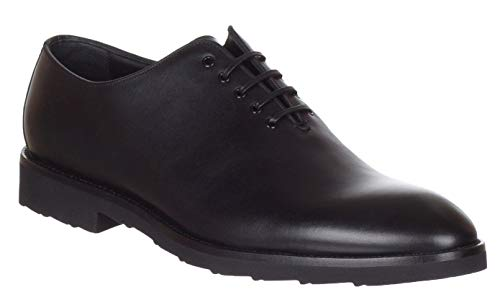 Dolce & Gabbana Men's Black Leather Lace Up Oxford Shoes, Black, US 11.5 / EU 44.5