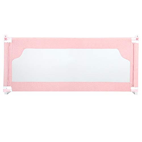 WHAIYAO-Bed rails Guard Suitable for Toddlers Kids Safety Guard for Bed Safety System Quick Installation, 4 Colors, 5 Sizes (Color : Pink, Size : -