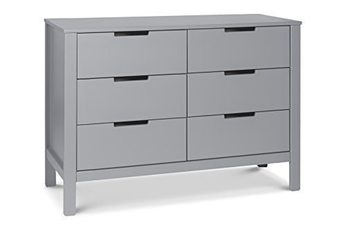 Carter's by Davinci Colby 6 Drawer Dresser, Gray