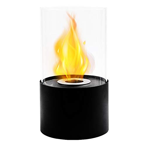 JHY Design Tabletop Fire Bowl Pot|Indoor/Outdoor Portable Tabletop Fireplace-Clean-Burning Bio Ethanol Ventless Fireplace