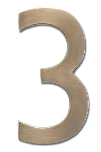 3 brass numbers - 8