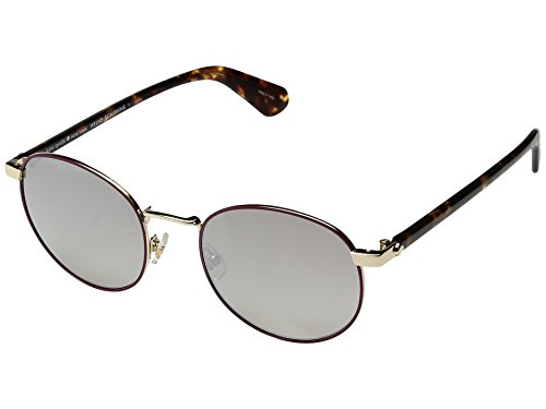 Kate Spade New York Womens Adelais/S Violet Havana/Brown Gradient Mirror One Size One - Spade Sunglasses Sale Kate