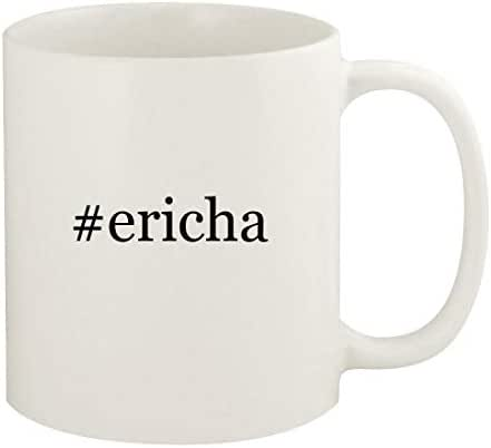 #ericha - 11oz Hashtag Ceramic White Coffee Mug Cup, White