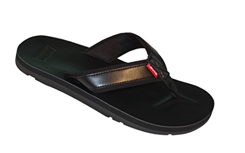 Levi's Mens Heartland Mix J2 Sandals in Black 12 M US