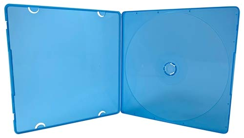 (mediaxpo Brand 10 Slim Blue Color Single VCD PP Poly Cases 5MM)