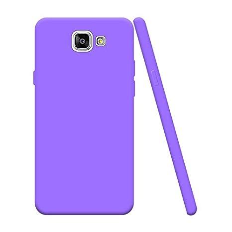Funda Samsung Galaxy A7 2017 SM-A720F, Silingsan Funda Silicona Protectora Carcasa Candy Goma Cubierta Case Ultra Delgado Cover Protectora Anti ...