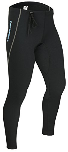 Paddling Suit (Lemorecn Wetsuits Pants 1.5mm Neoprene Winter Swimming Canoeing Pants(LMP001M))