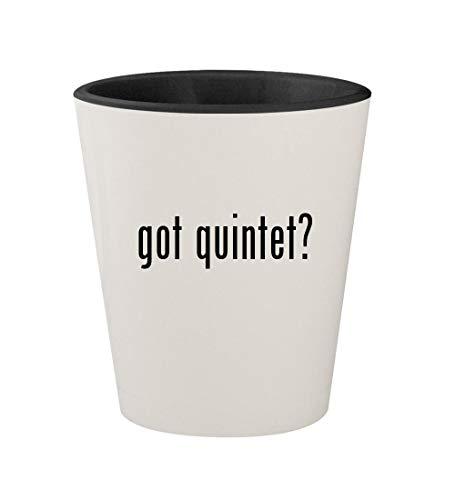 got quintet? - Ceramic White Outer & Black Inner 1.5oz Shot Glass