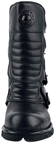 Adult's New S6 M Black Black Unisex 13 Biker 373X Boots Rock qngFnwUX