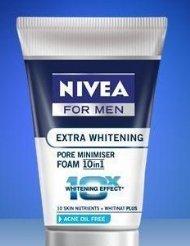 NIVEA for men Extra Whitening Pore Minimiser Foam Acne Oil F