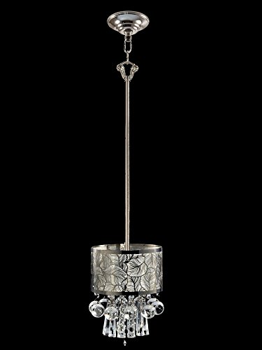Dale Tiffany GH14147 Silver Leaf Crystal Mini Pendant Polished Chrome