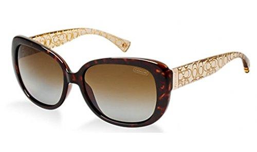 Coach L067 Laurin Sunglasses HC8076 5152T5 Dark Tortoise/Brown Crystal Brown Gradient Polarized 56 15 135