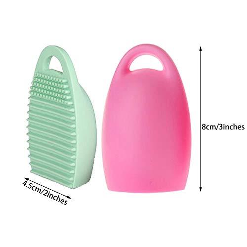 WasonD 32 Pockets Cosmetic Makeup Brush Organizer Belt Bag with Artist Strap + 2 Washing Brush Scrubber by WasonD (Image #4)