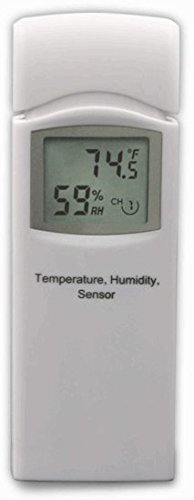 Ambient Weather WS-3000-X5 Wireless Thermo-Hygrometer with Logging, Graphing, Alarming, Radio Controlled Clock with 5 Remote Sensors, White by Ambient Weather (Image #3)