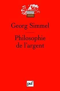 Philosophie de l'argent par Simmel
