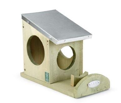 Beeztees 48227 Holzhaus für Eichhörnchen, 24 x 12 x 18 cm