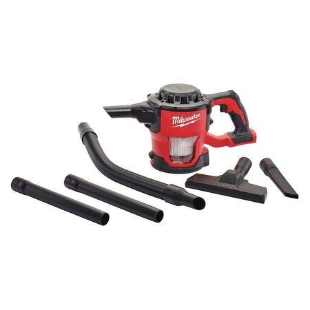 Milwaukee 0882-20 Filter M18 18V Cordless Lithium-ion Compact Vacuum, Hand Held 40 CFM (Complete Set) w/Bonus: Premium Microfiber Cleaner Bundle