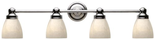 (World Imports Lighting 8029-08 Troyes 4-Light Bath Light, Chrome)