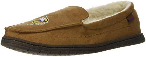 - FOCO NFL Minnesota Vikings Beige Team Logo Moccasin Slippers Shoe, Beige, Small (7-8)